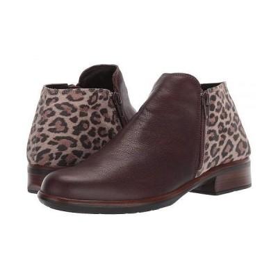 Naot ナオト レディース 女性用 シューズ 靴 ブーツ アンクルブーツ ショート Helm - Soft Brown Leather/Cheetah Suede