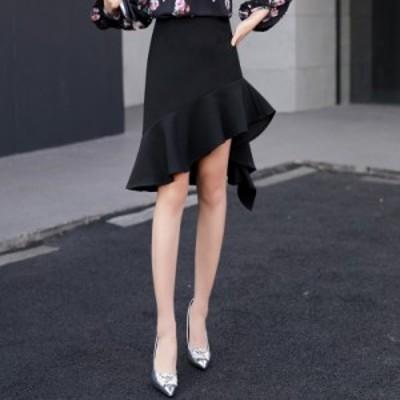マーメイド スカート シンプル フレア タイト シック #1122