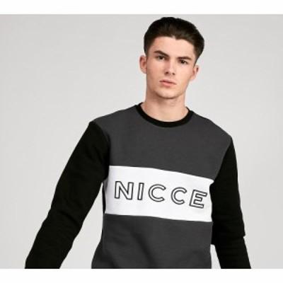 ニッチェ ロンドン Nicce メンズ スウェット・トレーナー トップス otober tri-colour sweatshirt Black/Grey/White