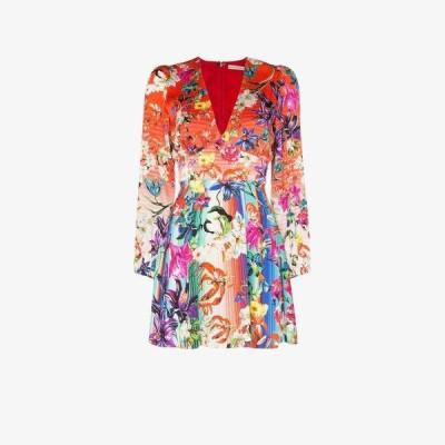 メアリー カトランズ Mary Katrantzou レディース ワンピース ワンピース・ドレス Bloom Floral Print Silk Mini Dress red