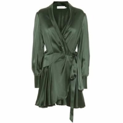 ジマーマン Zimmermann レディース ワンピース ワンピース・ドレス Espionage silk wrap minidress hunter