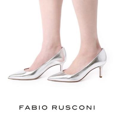 ファビオルスコーニ パンプス シルバー MILLY ファビオ ルスコーニ ポインテッドトゥ 7cm fabio rusconi