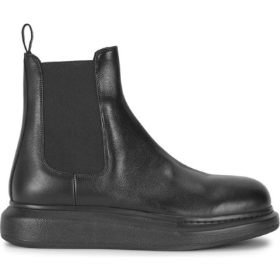 アレキサンダー マックイーン Alexander McQueen メンズ ブーツ チェルシーブーツ シューズ・靴 hybrid black leather chelsea boots Black