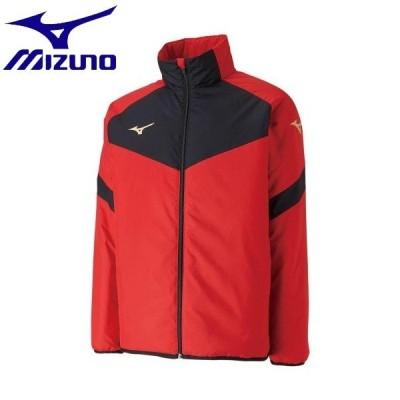 ◆◆ <ミズノ> MIZUNO ウォーマーシャツ[ユニセックス] P2JE9501 (62:チャイニーズレッド) サッカー・フットサル