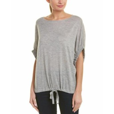 Autumn Cashmere オータムカシミア ファッション トップス Autumn Cashmere Bubble Crew Neck Top S Grey
