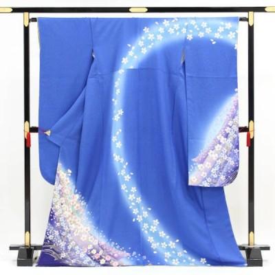 正絹振袖 販売 青空に花の散るらん