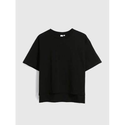 厚手ステップヘムTシャツ