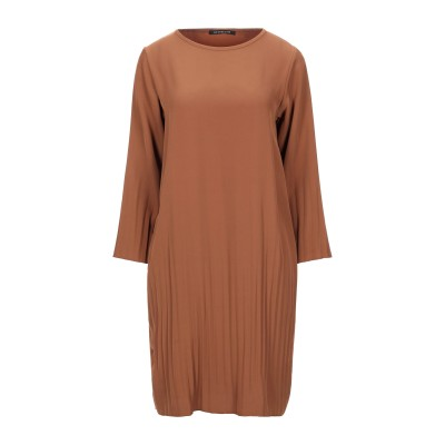 LE STREGHE ミニワンピース&ドレス ブラウン S ポリエステル 96% / ポリウレタン 4% ミニワンピース&ドレス