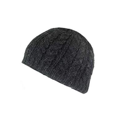 Wool beanie hat, 100% Real Irish Wool Hat, Made in Ireland, Charcoal Gray