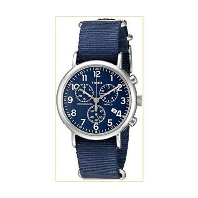 Timex Unisex TW2P71300 Weekender Chrono Blue Double-Layered Nylon Slip-Thru Strap Watch 並行輸入品