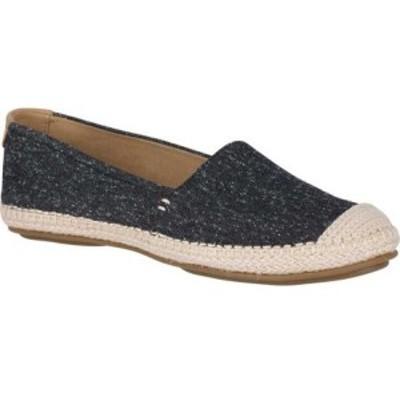 スペリー Sperry Top-Sider レディース スリッポン・フラット シューズ・靴 Sunset Skimmer Linen Slip On Black Canvas