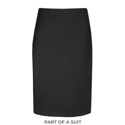 8 by YOOX ひざ丈スカート ブラック 40 レーヨン 97% / ポリウレタン 3% ひざ丈スカート