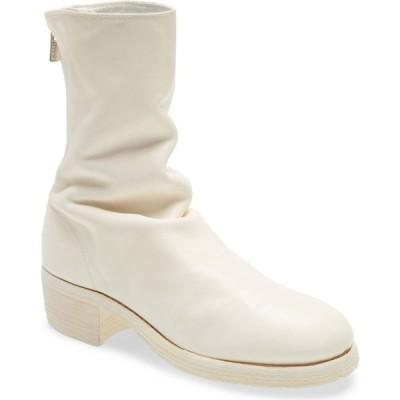 グイディ GUIDI レディース ブーツ シューズ・靴 Back Zip Bootie White