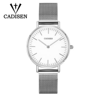 CADISEN ファッション ラグジュアリー レディース クォーツ時計 32mm 極薄 White