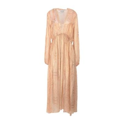 フォルテ フォルテ FORTE_FORTE ロングワンピース&ドレス あんず色 1 シルク 100% ロングワンピース&ドレス