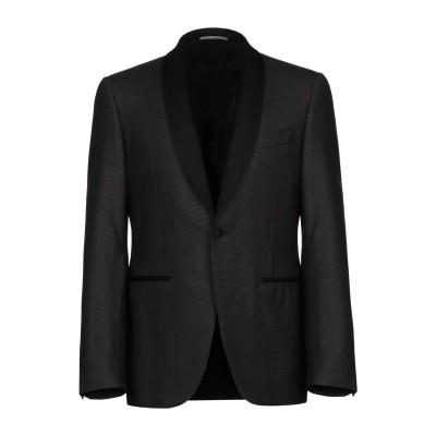 カナーリ CANALI テーラードジャケット ブラック 52 ウール 85% / シルク 15% テーラードジャケット
