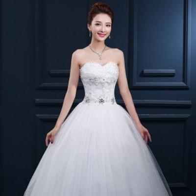 ウェディングドレス 花嫁衣装 高級ドレス レース 豪華 ラグジュアリー スレンダー ウエディングドレス