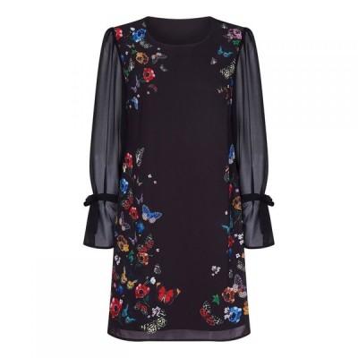 ユミ Yumi レディース ワンピース ワンピース・ドレス Nature Floral Dress Black