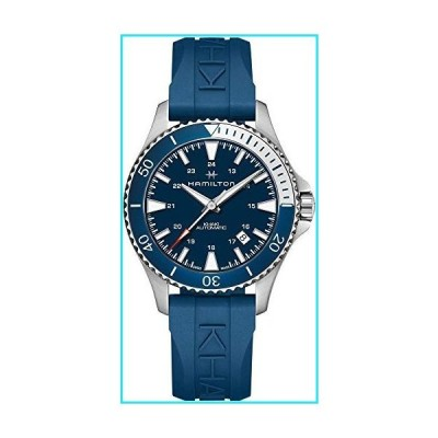 Hamilton H82345341 Khaki Navy Scuba Auto Men's Watch Blue Rubber Band【並行輸入品】