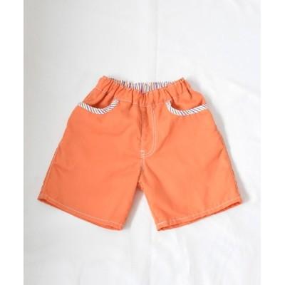 パンツ 【日本製】キャロットカラーのハーフパンツ