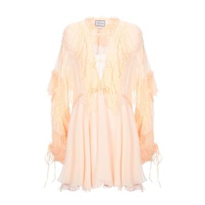 REDEMPTION ミニワンピース&ドレス あんず色 38 シルク 100% ミニワンピース&ドレス