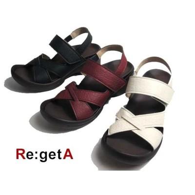 リゲッタ Re:getA R2682  クロスストラップグミサンダル レディース 靴