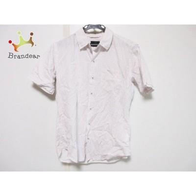 ザ ショップ ティーケー 半袖シャツ サイズS メンズ 白×ダークグレー×レッド ドット柄  スペシャル特価 20200611