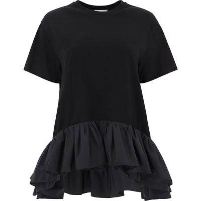 アレキサンダー マックイーン Alexander McQueen レディース Tシャツ トップス Nylon Flounces T-Shirt Black