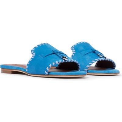 ロロピアーナ Loro Piana レディース サンダル・ミュール シューズ・靴 jovis charms suede sandals Gentian