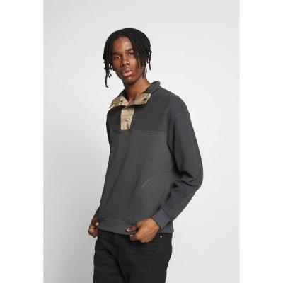 メンナス パーカー・スウェットシャツ メンズ アウター PANEL FUNNEL NECK - Sweatshirt - blue