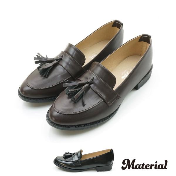 包鞋 流蘇漆皮樂福鞋  T52037