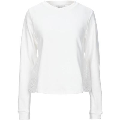 ONLY スウェットシャツ ホワイト XS オーガニックコットン 100% スウェットシャツ