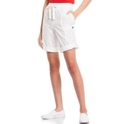 トミー ヒルフィガー レディース カジュアルパンツ ボトムス Sport Convertible Length Poplin Bermuda Shorts White