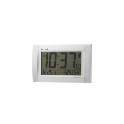 RHYTHM(リズム時計) デジタル電波掛時計/フィットウェーブD175 掛置兼用 8RZ175SR03(取寄せ/代引不可)