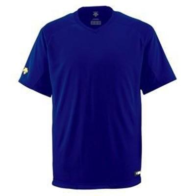 ds-1047681 デサント(DESCENTE) ジュニアベースボールシャツ(Vネック) (野球) JDB202 ロイヤル 160 (ds1047681)