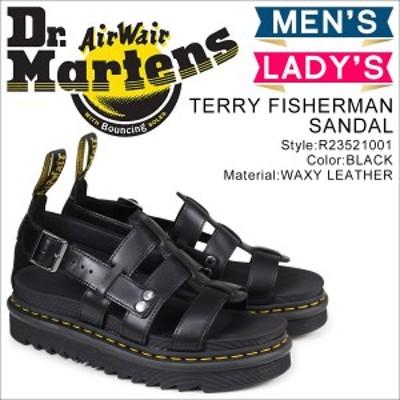 ドクターマーチン Dr.Martens サンダル テリー フィッシャーマン メンズ レディース ブラック 黒 R23521001