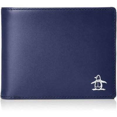 [マンシングウェア] ベラ付二つ折り財布 2080119 80's ネイビー