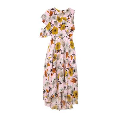 MAJE ロングワンピース&ドレス ピンク 3 レーヨン 100% ロングワンピース&ドレス