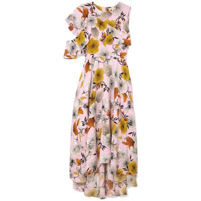 MAJE ロングワンピース&ドレス ピンク 1 レーヨン 100% ロングワンピース&ドレス