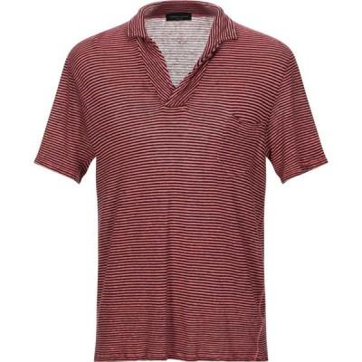ロベルトコリーナ ROBERTO COLLINA メンズ ポロシャツ トップス polo shirt Coral