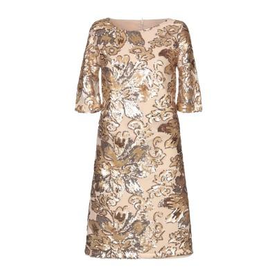 PAOLA PRATA ミニワンピース&ドレス ベージュ 40 ポリエステル 100% ミニワンピース&ドレス