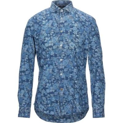 アレイドックス ALLEY DOCKS 963 メンズ シャツ トップス patterned shirt Pastel blue