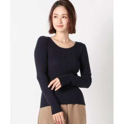 MEW'S REFINED CLOTHES / Uネックリブ長袖ニット WOMEN トップス > ニット/セーター