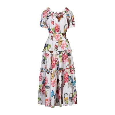 ドルチェ & ガッバーナ DOLCE & GABBANA 7分丈ワンピース・ドレス ホワイト 42 コットン 100% 7分丈ワンピース・ドレス