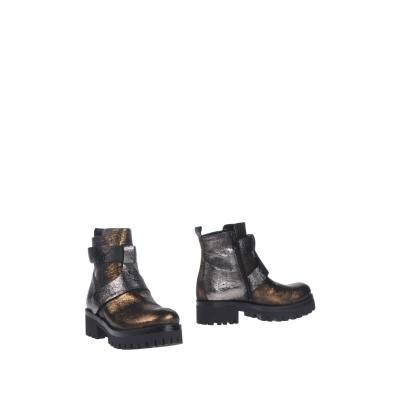 ZAHJR ショートブーツ ブロンズ 36 紡績繊維 ショートブーツ