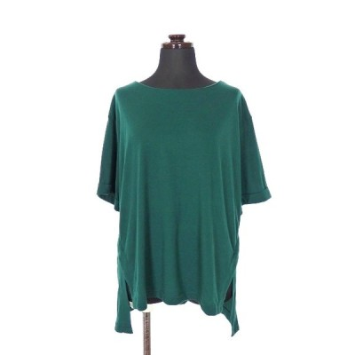 【中古】トラッゾドンナ Torrazzo Donna プルオーバー カットソー Tシャツ 半袖 グリーン 緑 春夏 レディース 【ベクトル 古着】