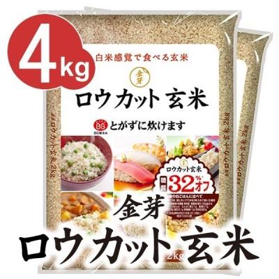 金芽ロウカット玄米  無洗米 4kg(2kg×2袋) 長野コシヒカリ使用 令和2年産 送料込