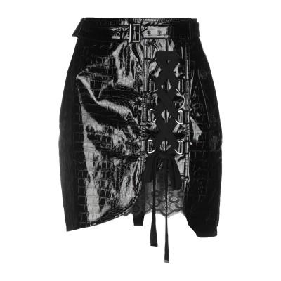 SELF-PORTRAIT ひざ丈スカート ブラック 8 ポリウレタン 55% / ポリエステル 45% ひざ丈スカート