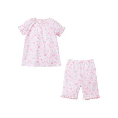 MIKI HOUSE/ミキハウス 花柄半袖パジャマ 白 100
