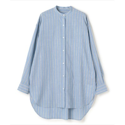 (NORC/ノーク)スタンドカラーシャツ/レディース サックス